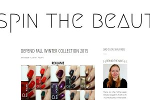 Spin the Beauty - Depend Fall & Winter collection 2015