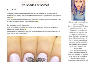 Deluxiieous //Five shades of Sorbet