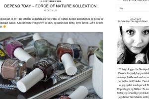 Depend 7day - Force of Nature kollektion - A blog about Mia