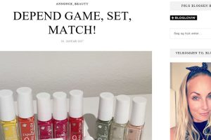 DEPEND GAME, SET, MATCH! - Tina Lang