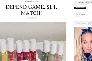 DEPEND GAME, SET, MATCH! - Tina Lang